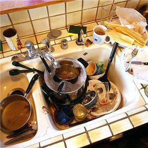Как отмыть кухонную посуду